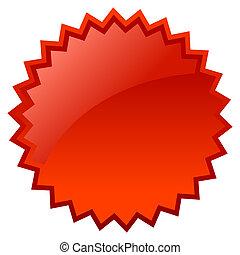 Blank red star price
