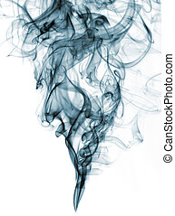 blue color smoke from white background