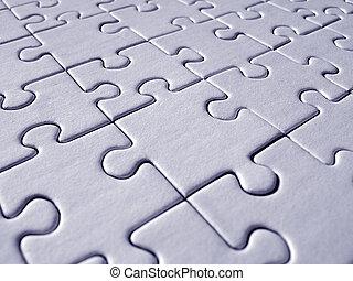 Blue jigsaw pattern