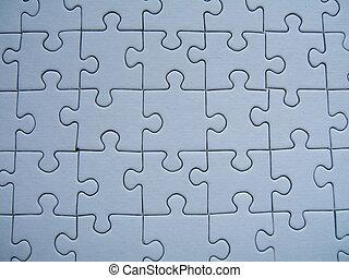 A blue puzzle