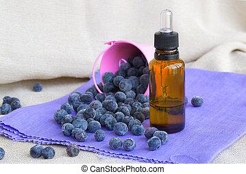 Blueberries seed essential oil