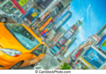 Blurred defocus background image from NYC, New York City