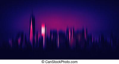 Blurred New York City background