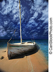 Boat wrack