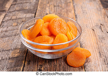 bowl of dried apricot