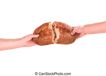 bread in hand