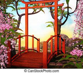 Bridge Asian Backdrop