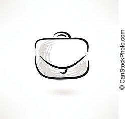 briefcase grunge icon