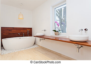 Bright exotic bathroom