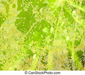 Bright Green Floral Grunge Textured Abstract