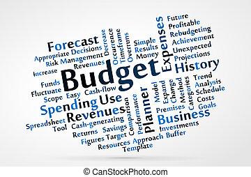 Budget word cloud vector illustration