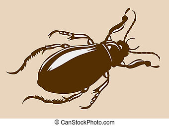 bug silhouette on yellow background