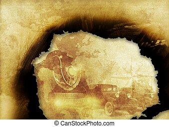 Burned Vintage Illustration