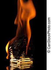 Burning House From Matches