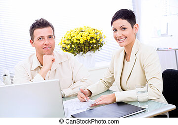 Business couple working
