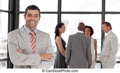 Business executive smiling