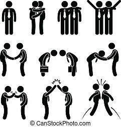 Business Manner Greetings Gesture