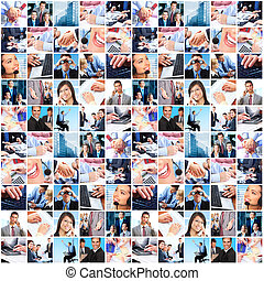 Business people group collage.