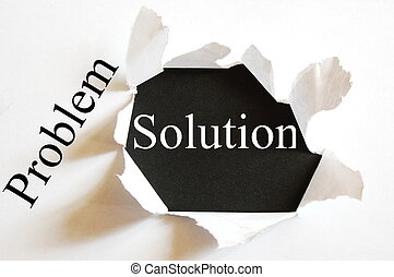 solving a business problem with solution in a paper hole