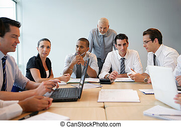 business team on a professional training