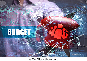 Business, Technology, Internet and network security. budget