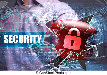 Business, Technology, Internet and network security. Security