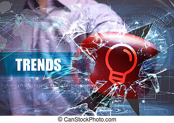 Business, Technology, Internet and network security. trends