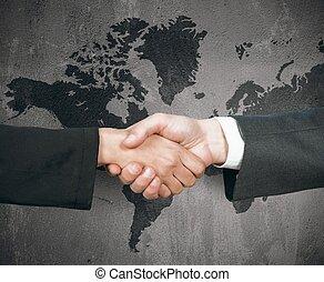 Business world handshake
