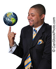 Businessman with the Earth