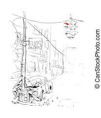 Car accident. Crash. Vector illustration.