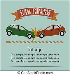 Car Crash Vector Illustration EPS10