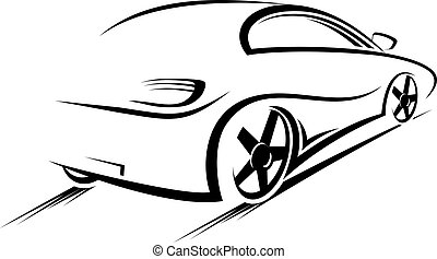 Car silhouette for race sports design