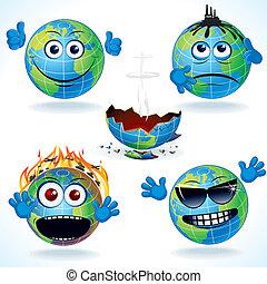 Cartoon Earth Icons #1