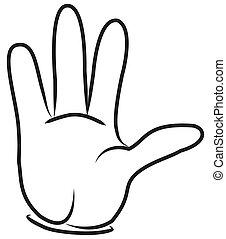 CARTOON HAND.