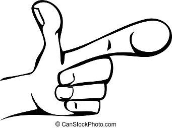 Cartoon Hand Pointing