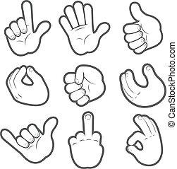 Cartoon Hands Set #2