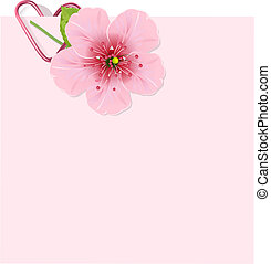 Vector Love Letter with beautiful Cherry blossom