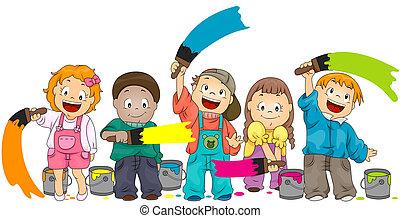 Children Painting