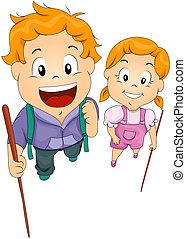 Children with Sticks