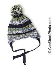 Children's knitted wool hat