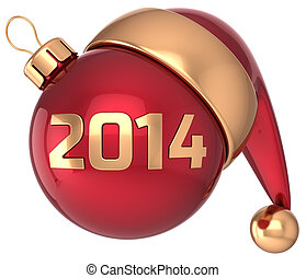 Christmas ball 2014 New Year bauble
