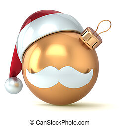 Christmas ball gold Happy New Year
