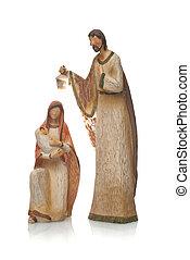 Mary, Jesus and Joseph