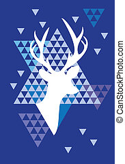 Christmas deer triangle pattern