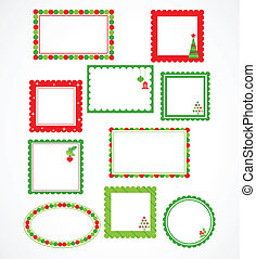 Christmas frames and labales