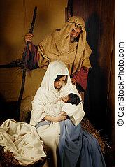 Christmas nativity live scene