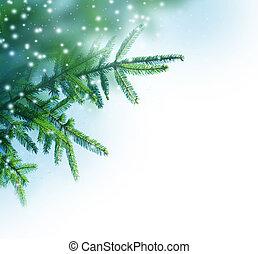 Christmas Tree Border