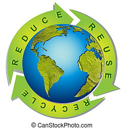 Clean environment - conceptual recycling symbol