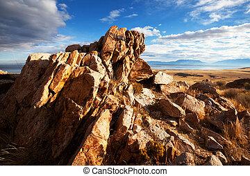 Salt Lake landscapes, USA