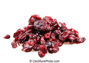Close-up Of A Pile Of Cranberries On A White Background